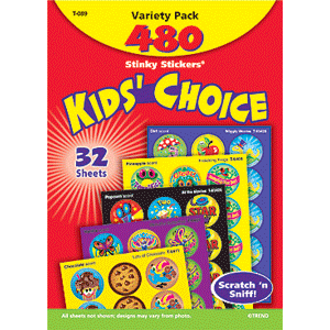 Kids Choice - Stinky Stickers (480 stickers, 48 designs)-0