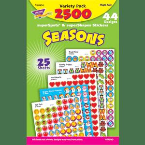 Seasons - Mini Stickers For Dot Books (2,500)-5689