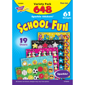 School Fun - Sparkle Stickers (648 stickers, 61 designs)-0