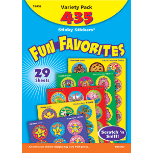 Fun Favorites - Stinky Stickers (435 stickers, 24 designs)-0