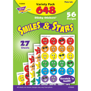 Smiles & Stars - Stinky Stickers (648 stickers, 56 designs)-0