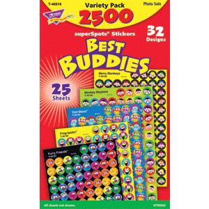 Best Buddies - Mini Stickers For Dot Books (2,500)-0