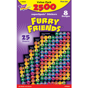 Furry Friends - Mini Stickers For Dot Books (2,500)-0