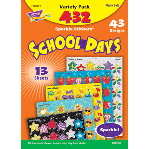School Days - Sparkle Stickers (432 stickers, 43 designs)-0