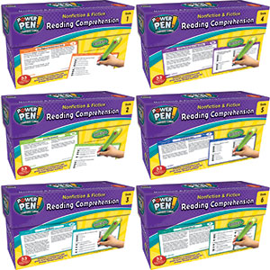 Nonfiction & Fiction Comprehension Power Pen Cards Combo 1-6-0