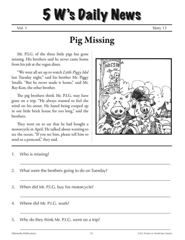 5 W's Fiction and Nonfiction Binder-4070