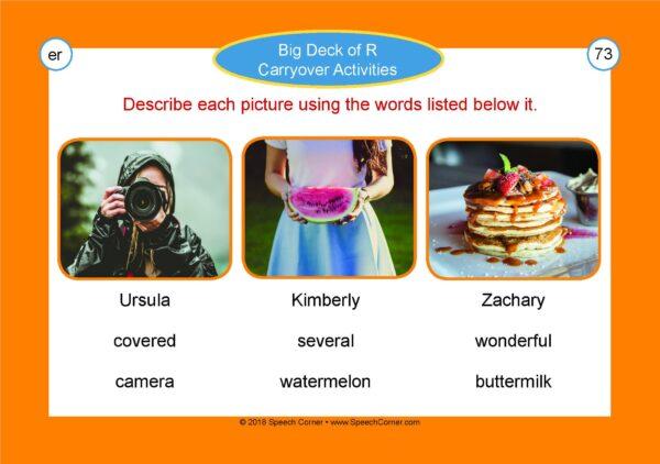 Speech Corner Photo Cards - Big Deck Of R Carryover Activities-4019