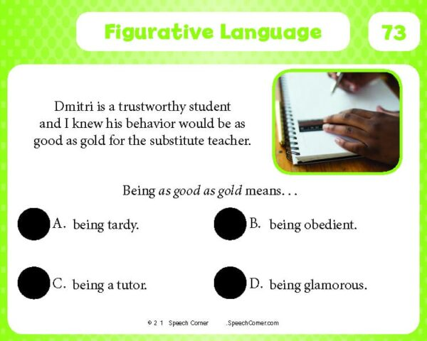 Spot On! Figurative Language-4109