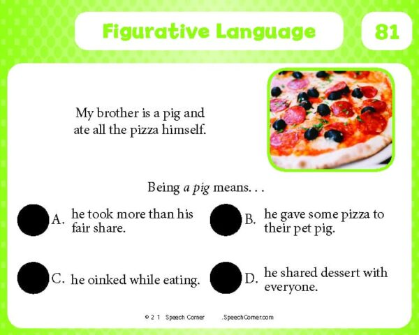 Spot On! Figurative Language-4110