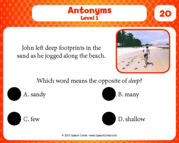 Spot On! Antonyms (Tier II)-4214