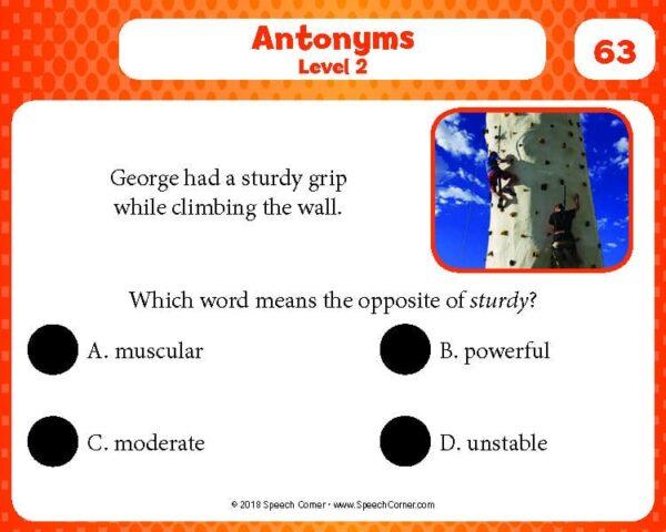 Spot On! Antonyms (Tier II)-4217