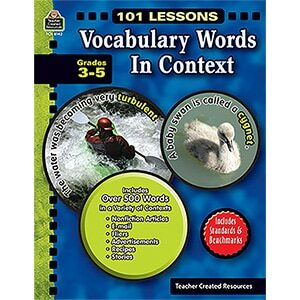 101 Lessons: Vocabulary Words in Context Grades 3-5-0