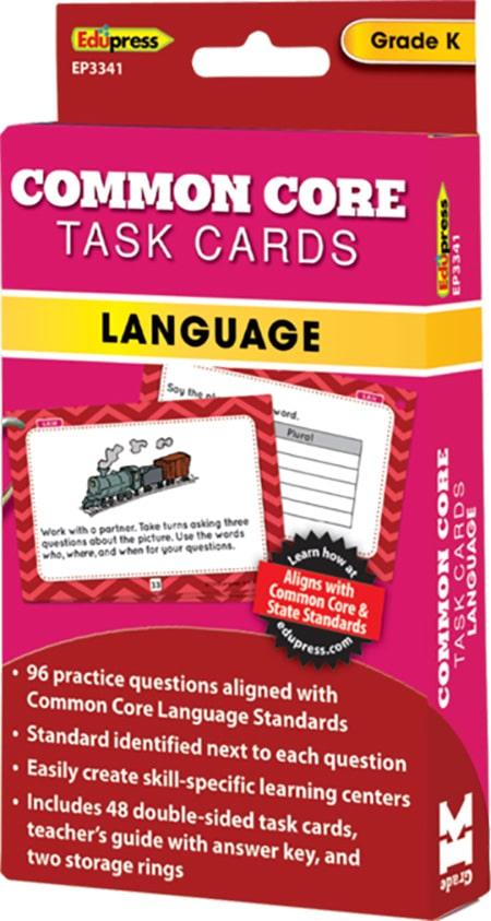Common Core Language Task Cards: Grade K-4268