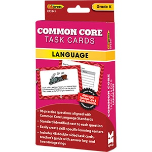 Common Core Language Task Cards: Grade K-0
