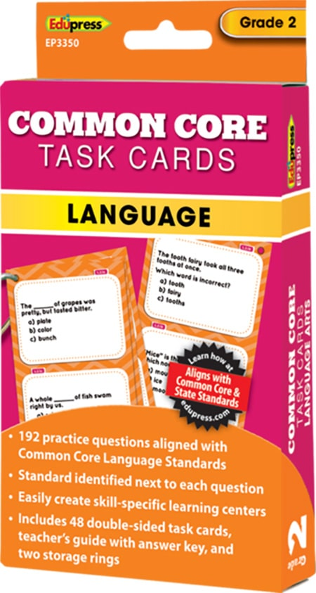 Common Core Language Task Cards: Grade 2-4276