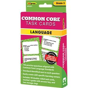 Common Core Language Task Cards: Grade 3-0