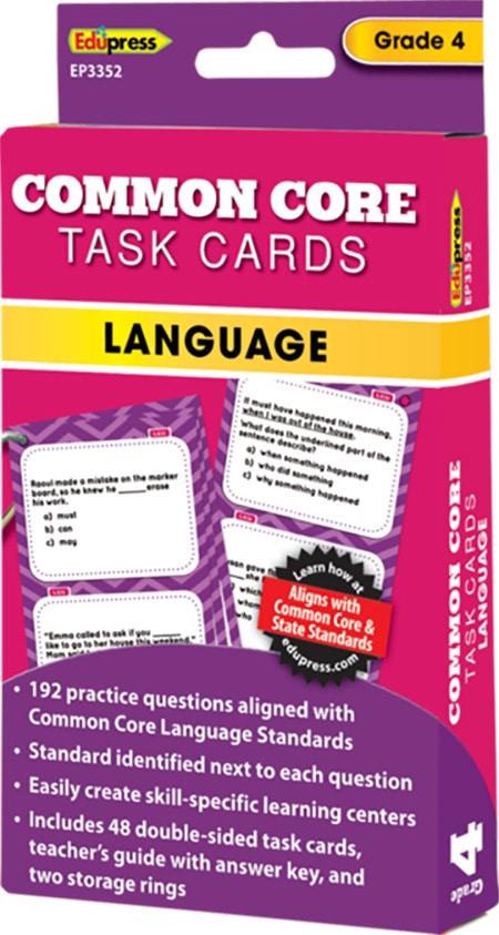 Common Core Language Task Cards: Grade 4-4284