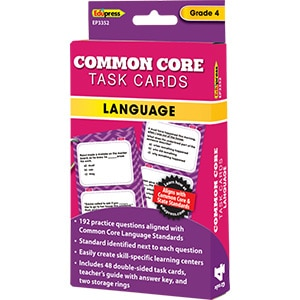 Common Core Language Task Cards: Grade 4-0