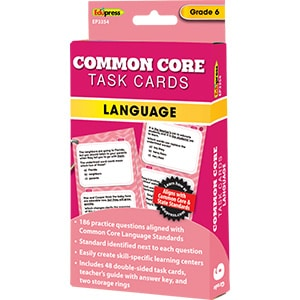 Common Core Language Task Cards: Grade 6-0