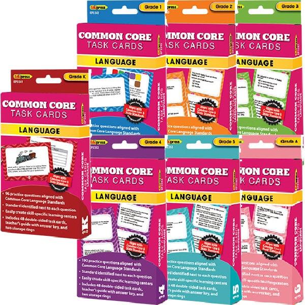 Common Core Language Task Cards Combo: Grades K-6-4296