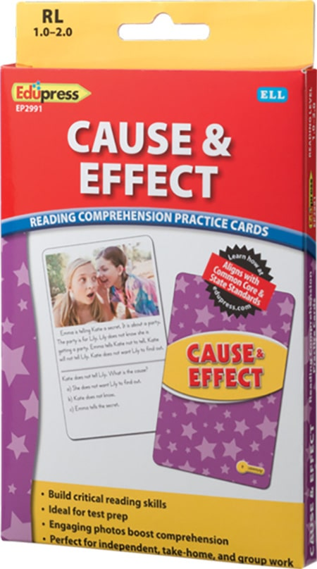 Comprehension Practice Cards: Cause & Effect (Reading Level 1.0-2.0)-4721
