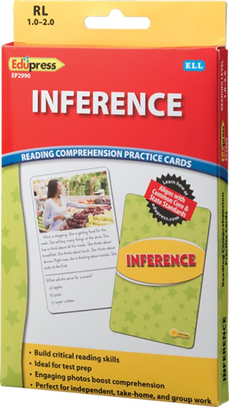 Comprehension Practice Cards: Inference (Reading Level 1.0-2.0)-4729