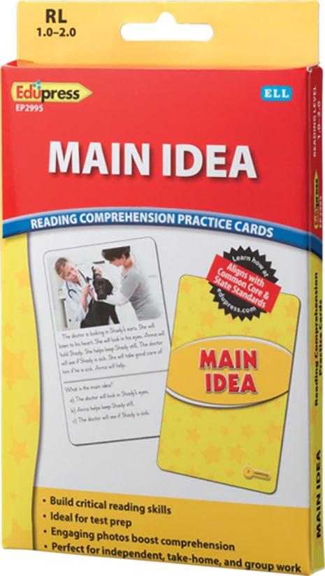Comprehension Practice Cards: Main Idea (Reading Level 1.0-2.0)-4735