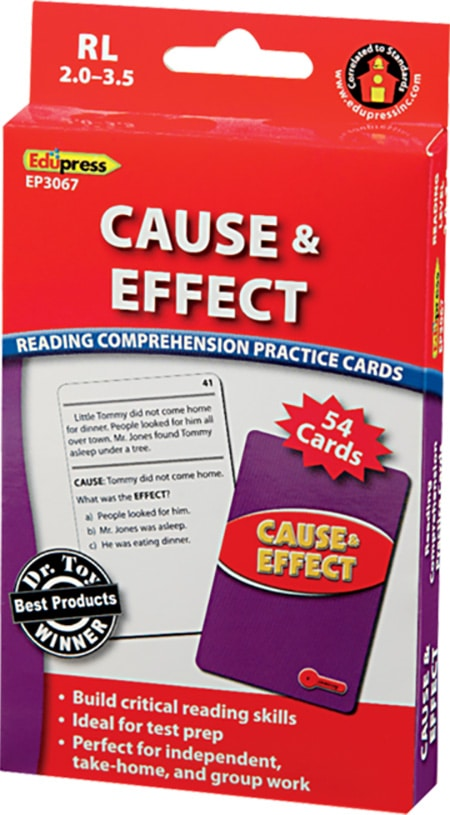 Comprehension Practice Cards: Cause & Effect (Reading Level 2.0-3.5)-4743