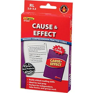 Comprehension Practice Cards: Cause & Effect (Reading Level 2.0-3.5)-0