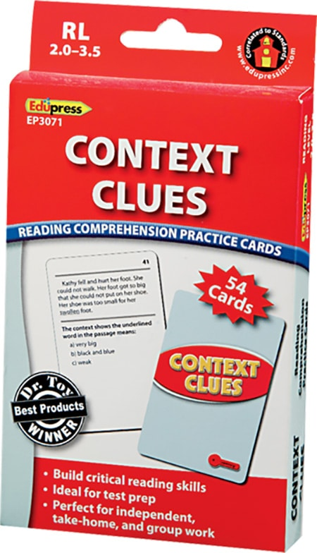 Comprehension Practice Cards: Context Clues (Reading Level 2.0-3.5)-4747