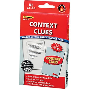 Comprehension Practice Cards: Context Clues (Reading Level 2.0-3.5)-0