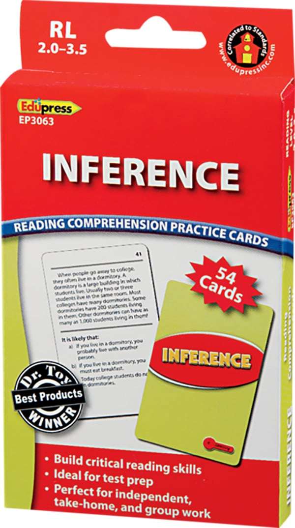 Comprehension Practice Cards: Inference (Reading Level 2.0-3.5)-4751