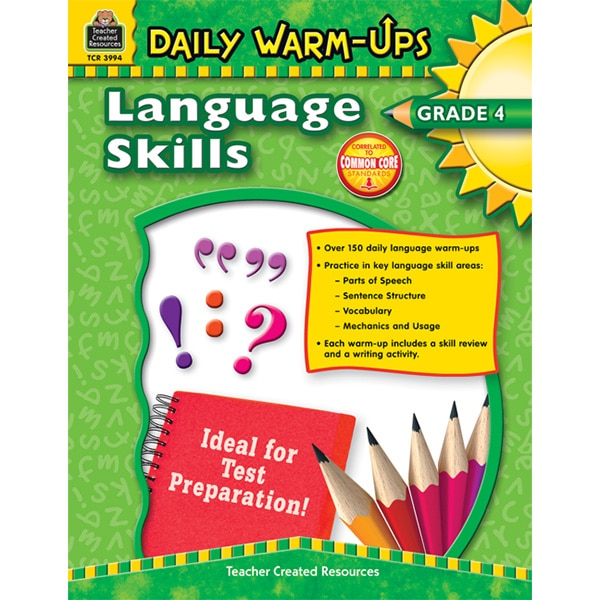 Daily Warm-Ups - Language Skills: Grade 4-4358