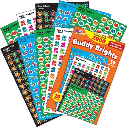 Buddy Brights - Mini Stickers For Dot Books or Incentive Charts (2,000)-4670