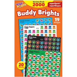 Buddy Brights - Mini Stickers For Dot Books or Incentive Charts (2,000)-0