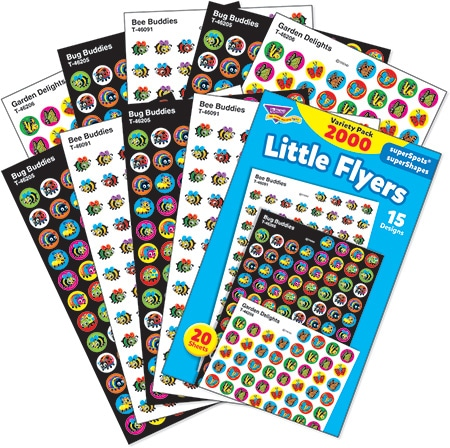 Little Flyers - Mini Stickers For Dot Books or Incentive Charts (2,000)-4683