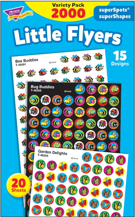Little Flyers - Mini Stickers For Dot Books or Incentive Charts (2,000)-4684