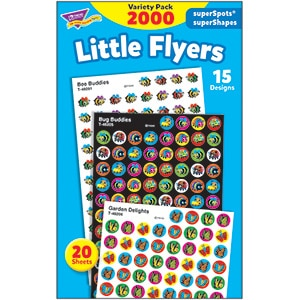 Little Flyers - Mini Stickers For Dot Books or Incentive Charts (2,000)-0