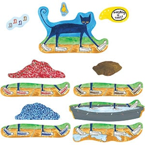 Pete the Cat, I love My White Shoes - Flannel Board Stories-5278
