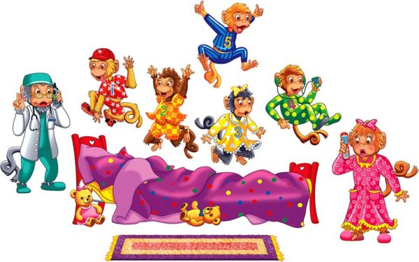 Five Monkeys Jumping on the Bed - Flannel Board Stories-0