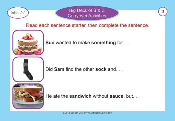 Speech Corner Photo Cards - Big Deck Of S & Z Carryover Activities-4933