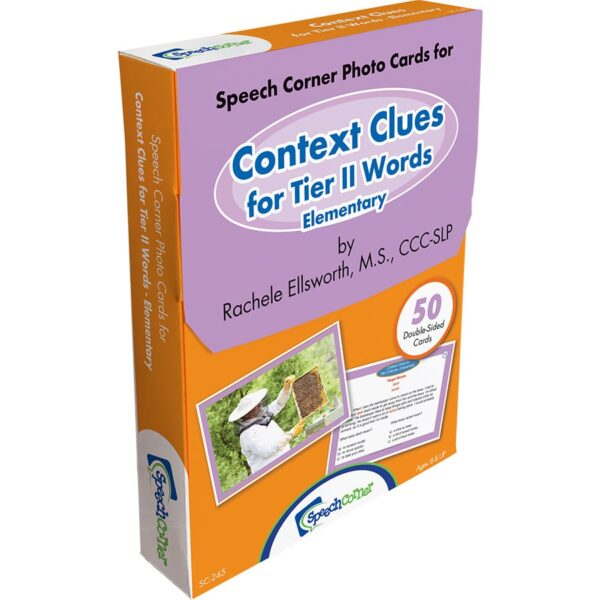 Speech Corner Photo Cards - Context Clues for Tier II Words, Elementary-6295