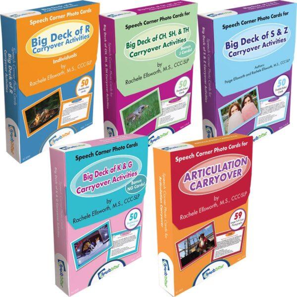Speech Corner Photo Cards- Big Deck of Carryover Activities Bundle (SC-205, 230, 235, 240, 260)-6307