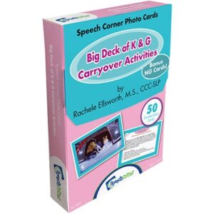 Speech Corner Photo Cards - Big Deck of K & G Carryover Activities-0