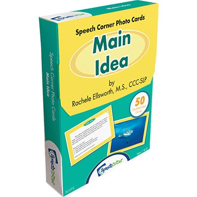 Speech Corner Photo Cards- Main Idea-0