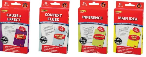 Comprehension Practice Cards: Complete 4 Box Set (TC-150, 155, 160, 165)-0