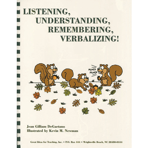 Listening, Understanding, Remembering, Verbalizing!-0