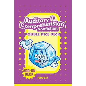Auditory Comprehension Non-Fiction Double Dice Add-On Deck-0