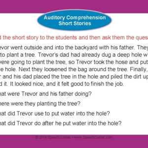 Speech Corner Photo Cards For Auditory Comprehension--Short Stories-3123