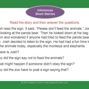 Speech Corner Photo Cards For Inferences--Short Stories-3104